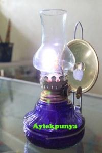 Lampu Teplok tanpa minya tanah menyala lebih dari 12 jam